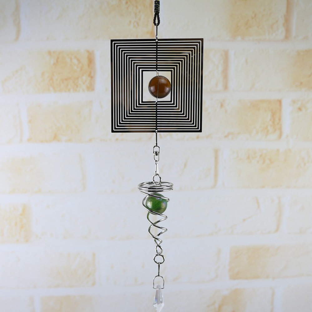 NEW Wind Chimes Spinner Spiral Rotating Crystal Ball Windchime Church Yard Decor Garden Home Office Decoration Metal Wind Chimes in Wind Chimes Hanging Decorations from Home Garden