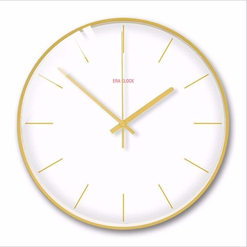 New 3D Wall Clock 30cm 35cm Silent Movement Wall Clock Modern Design Solid Color Duvar Saati Wall Watch For Living Room For Home