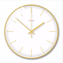 New 3D Wall Clock 30cm 35cm Silent Movement Modern Design Solid Color Duvar Saati Watch For Living Room Home