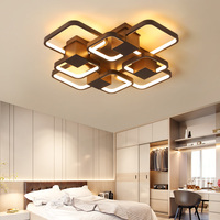 New Coffee Finished Modern led Ceiling Lights For Living Room Bedroom Study Home Deco 90 265V Ceiling Lamp light fixtures
