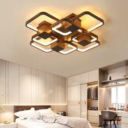 Nowa kawa wykończone nowoczesne lampy sufitowe led do salonu sypialnia pokój do nauki w stylu art Deco 90 265V lampy sufitowe oprawy oświetleniowe|Oświetlenie sufitowe|Lampy i oświetlenie -