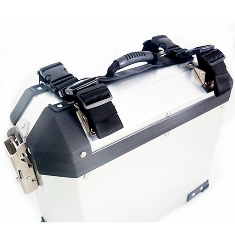 Motorcycle Left Right Box Side Case Saddle Bag Luggage Aluminum Alloy Side Box With Handle Rope For BMW G1200GS F800GS