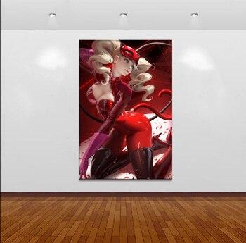 Home Decor Modular Canvas Wall Poster 1 Piece Persona 5 Sexy Cat