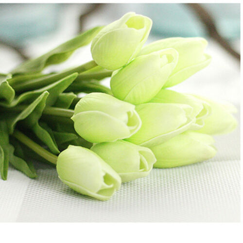 1 Pcs Mini Tulip Artificial Rose Plastic Fake Flower Leaf Home Decor Bridal Bouquet Happy Gifts Wedding Decoration Bonsai in Artificial Dried Flowers from Home Garden