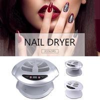Auto Induction Sensors Nail Dryer Fan Warm & Cool Wind UV Gel Polish Varnish Drying Uv Led Lamp Nail Dryer For Nail Art Tools