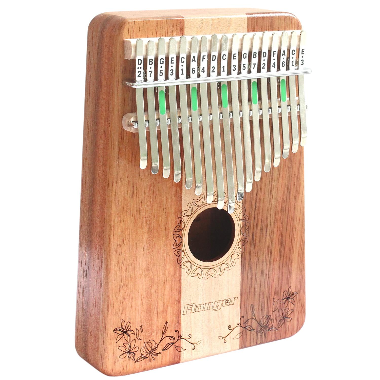 Flanger 17 C Clé Doigt Kalimba Mbira Thumb Pocket Taille Débutants Piano Soutien Sac Marimba Clavier En Bois Instrument de musique