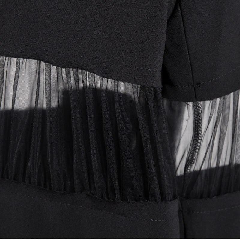 Black white De Poitrine E418 Col Nouvelle Couleur Dentelle 2019 Printemps Mode Irrégulière Unique Blazer Solide Été Femmes Cranté Décontracté H4UfEq