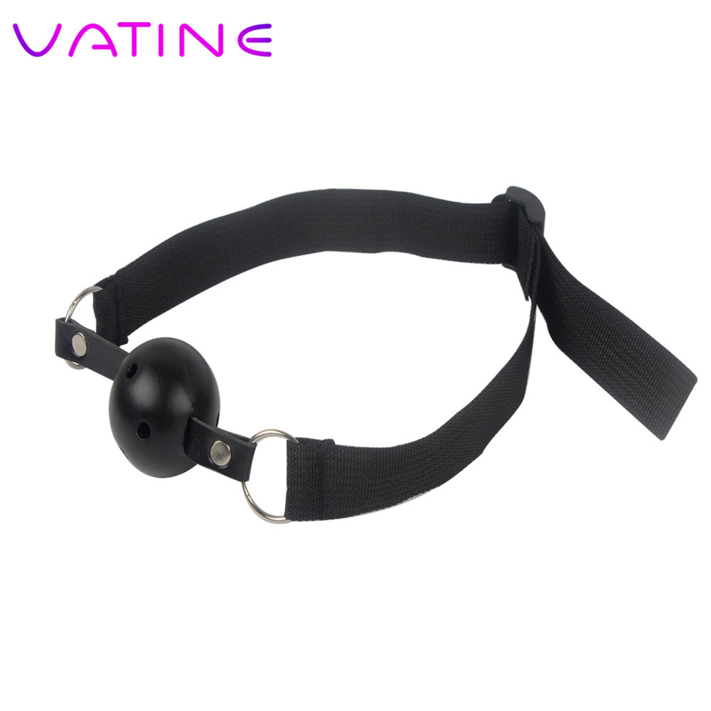 VATINE <font><b>Sex</b></font> <font><b>Toys</b></font> <font><b>for</b></font> Women <font><b>Couples</b></font> Bondage Oral Fixation Stuffed <font><b>Adults</b></font> Games Flirting Band Open Mouth Gag Ball image