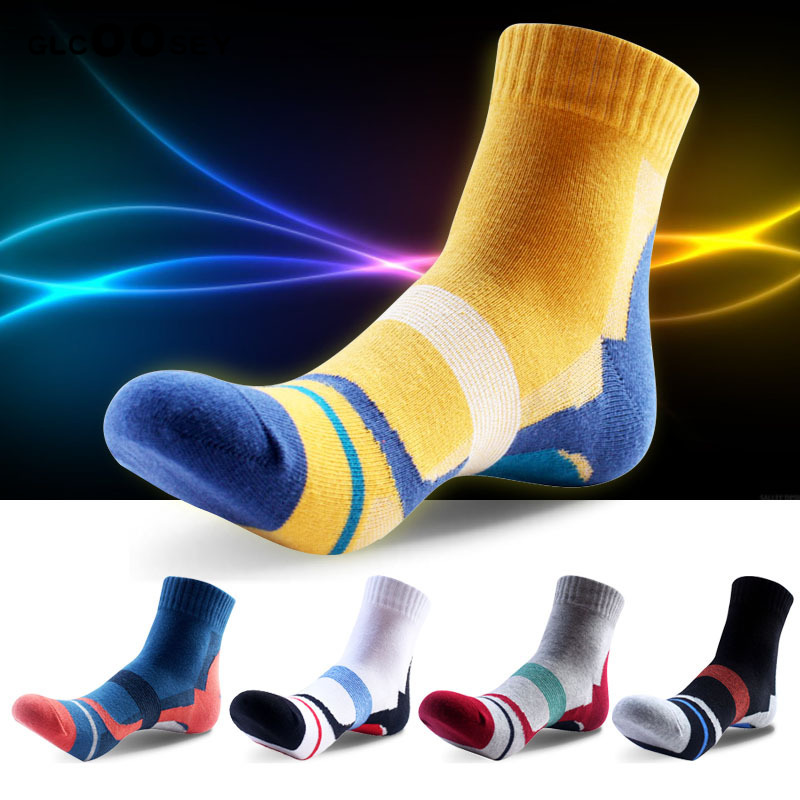 Thicken Men Cotton Socks Basketball Outdoor Hiking Socks Non-slip Durable Breathable Deodorant Excellent Quality Boy Mens Gift