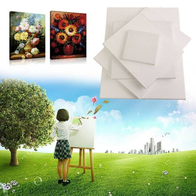 KICUTE For Acrylic Oil Paint Watercolour Painting DIY Crafts New Blank Canvas Wooden Board Frame Artist Art Board Canvas Panels