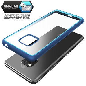Image 4 - Pour Huawei Mate 20 Pro etui LYA L29 2018 SUPCASE Style UB anti coups Premium hybride pochette de protection en polyuréthane thermoplastique + coque arrière transparente