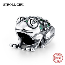 Strollgirl Fit original European bracelet DIY Making Authentic 925 Sterling Silver Bead Frog animal European Charm Women Jewelry