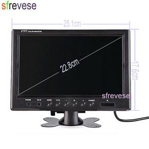 "Image 5 - 4x 18 IR Night Vision Car Reversing Parking Backup Camera + 9"" LCD 4CH Quad Split Monitor Car Rear View Kit for Bus Truck 12V 24"