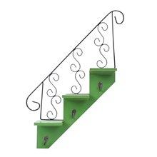Bastidores de escalera antigua LUDA gancho Trapezoidal decoración de pared estantes de flores sala de estar estante de almacenamiento de cocina