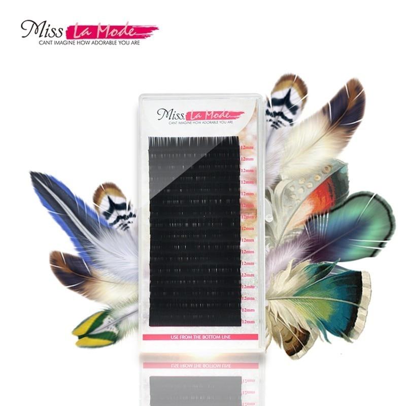Misslamode 16 рядов отдельные ресницы удлинители Ложные профессиональный накладные ресницы материалы