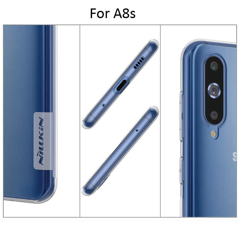 Nillkin Nature Transparent Clear Case For Samsung Galaxy A8 2018 A530F Soft  TPU Cover A8 Plus A730F