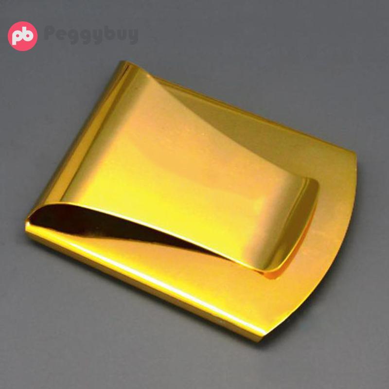 SchöN Marke Design Karte Id Fall Geld Clip Metall Edelstahl Fall Männer Goldene Geld Clips Tragbare Mann Mode Geld Clips Stahl Halter Elegant Im Stil