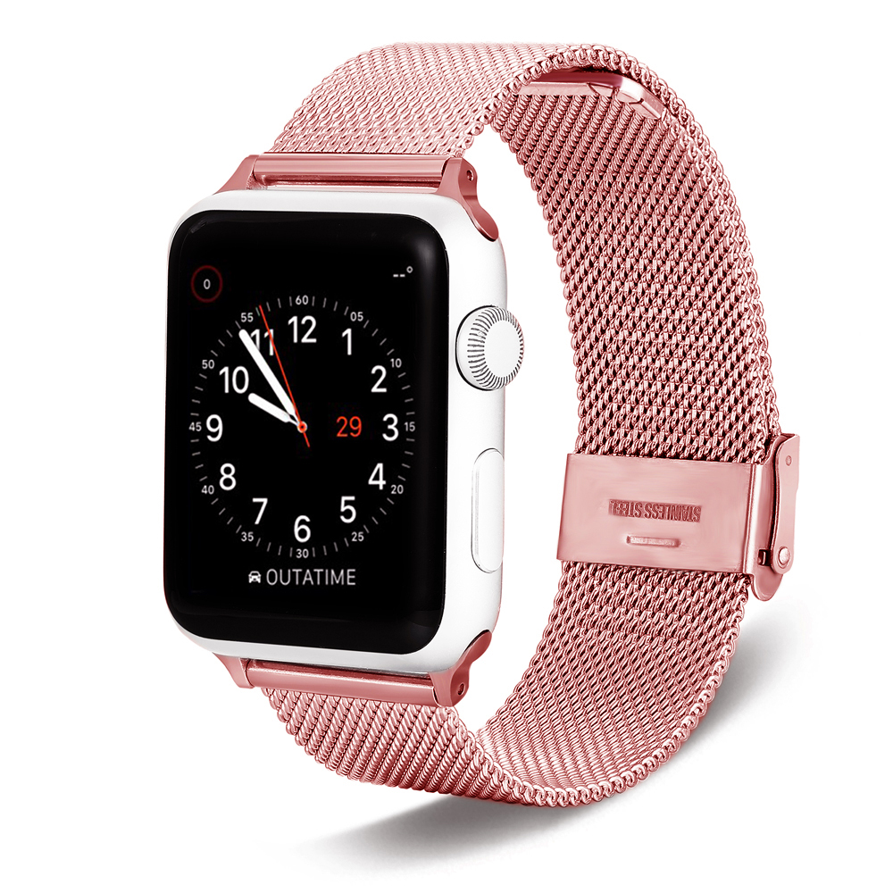 For Apple Watch band 38/40 42/44 Apple Milanes band Stainless Steel strap  Bracelet iwatch metal Strap Band series 1 2 3 4For Apple Watch band 38/40 42/44 Apple Milanes band Stainless Steel strap  Bracelet iwatch metal Strap Band series 1 2 3 4