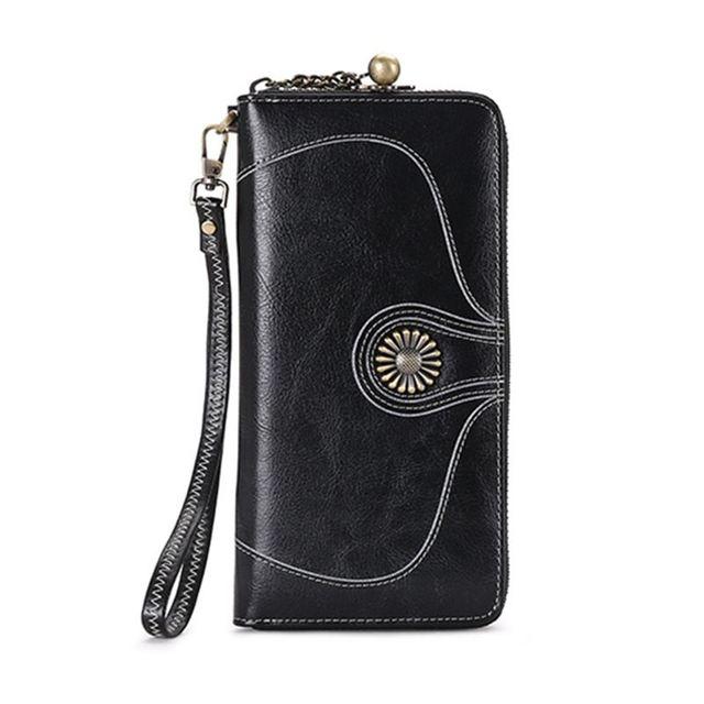 Sendefn calidad de la mujer bolso nuevo cremallera larga las mujeres monedero mujeres carteras de marca de bolsa de dinero puede contener 5,5 pulgadas de teléfono