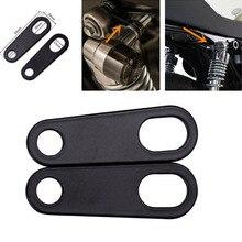 Suporte de seta para motocicleta, 2 peças, suporte para luzes de seta, braçadeiras de garfo, motocicleta, ciclismo, seta