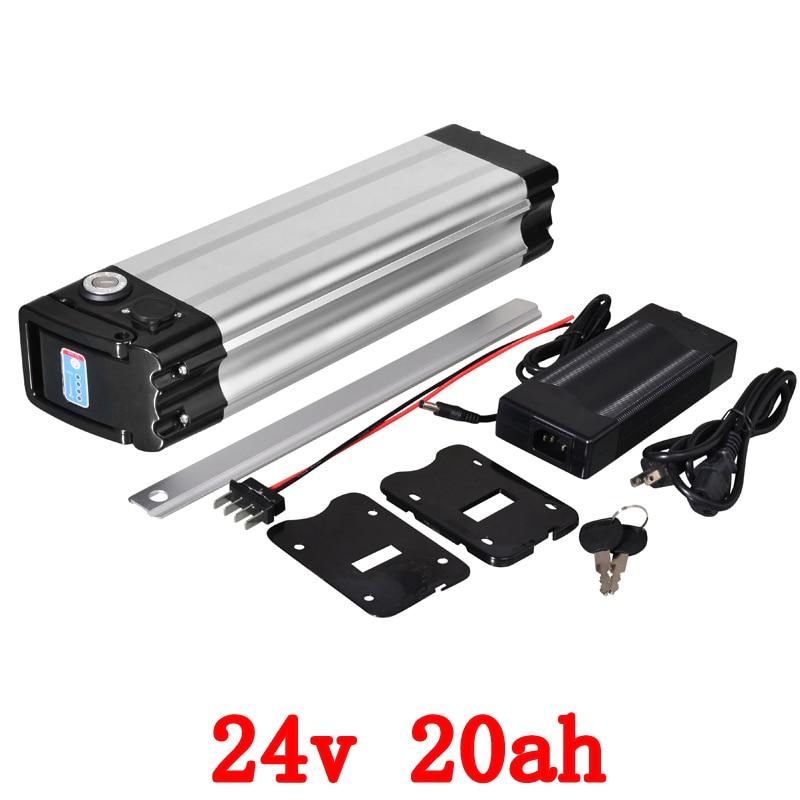 24v 20ah Electric Bicycle Battery 24V 20AH Lithium Battery Pack With 30A BMS And 29.4V 3A Charger For 250W 350W 500W 700W Motor