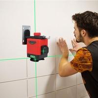 Laser vermelho verde 12 linhas aposição instrumento 3d nível de piso precisão medidor água plana brilho telha nivelamento instrumento inst Níveis de laser    -