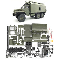 WPL B36 1:16 Ural RC Car 2.4G 6WD Military Truck Rock Crawler Command Communication Vehicle KIT DIY Toys For Boys