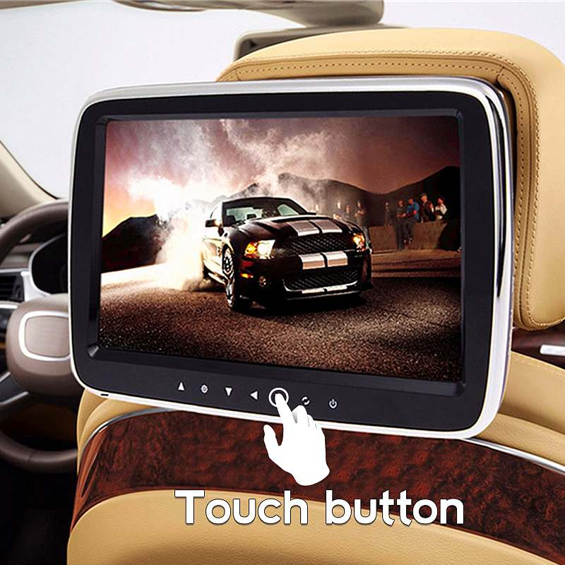 9 ''numérique HD Écran Voiture lecteur dvd moniteur appui-tête USB/SD/HDMI/FM/Jeu/MP5 Salut-fi audio Vidéo Radio Amplificateur Stéréo