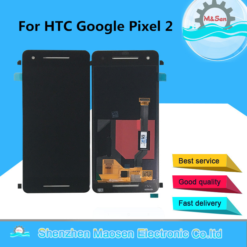 M&Sen For HTC Google Pixel 2 Google Pixel 2 XL LCD Screen Display+Touch Panel Digitizer Screen Assembly Repalcement