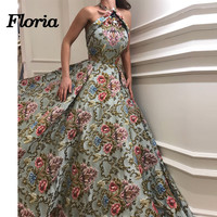 Embroidery Evening Dresses 2019 Vintage Arabic Couture Prom Dress Robe De Soiree Party Gowns Aibye Lonng Gown Kaftan Prom Dress