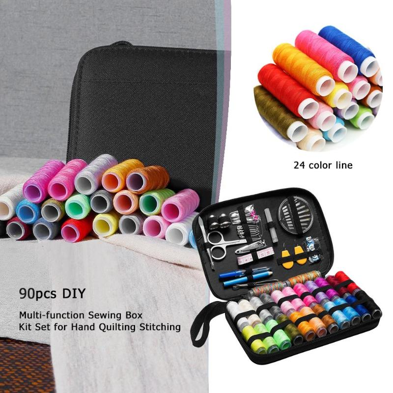 Image 3 - Sewing Kits DIY Multi function Sewing Box Set for Hand Quilting Stitching Embroidery Thread Sewing Accessories 70/90/97/98Pcs-in Sewing Tools & Accessory from Home & Garden