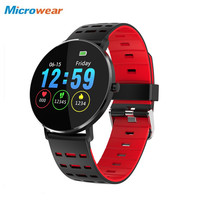 Microwear L6 Smart Watch IP68 Waterproof Android Smartwatch 1.22 inch Bluetooth 4.0 Wristband Touch Screen Heart Rate Swimming