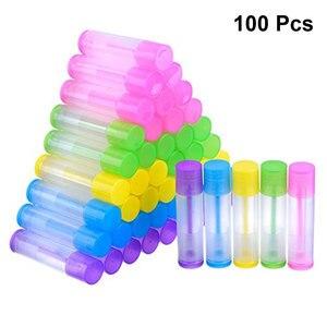 Image 2 - 100pcs Lip Balm Tubes Empty Plastic Lip Balm Tube Lipstick Tube Chapstick Containers Lipstick Containers for Handcraft DIY