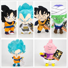 6 pcs boneca de pelúcia anime De Dragon Ball Z Super Saiyan Goku Buu Vegeta Piccolo figura brinquedos(China)