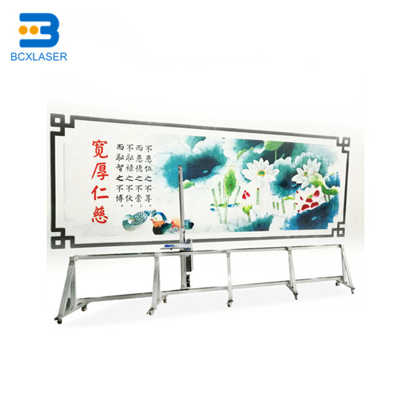 3D Automatic Direct To Wall Inkjet Printer Vertical Wall Printer