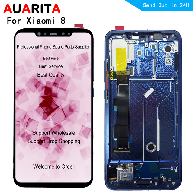 """6.21"""" LCD For XiaoMi Mi8 mi 8 LCD Display+Touch panel outer glass Screen Digitizer with frame Assembly for xiaomi8 1080*2248"""