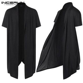 5bbb03a2bf3 Verano Streetwear chaqueta hombres Trench capa prendas camisas HipHop Punk  fina largo gabardinas abrigos chaqueta Abrigo Hombre gótico