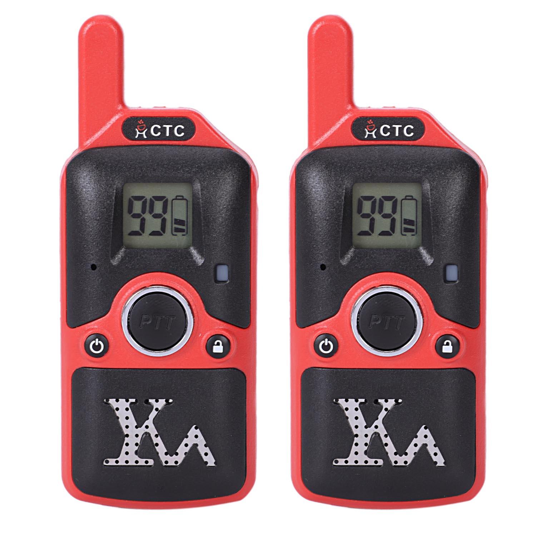 Carter Cool 2 pièces Dh-U8 mini talkie-walkie Enfants Enfants Radio 1.5 W 400-480 Mhz Fréquence Libre 99 Canal