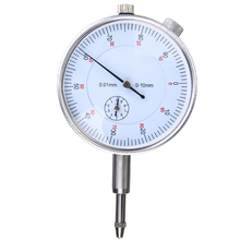 Dial Indicator 0-10mm/0.01mm Dial Accuracy Indicator Gauge Micrometer High Precision Concentricity Measurement Instrument Tools 100% real japan mitutoyo dial indicator 1044s 0 5mm 0 01mm dial test gauge micrometer measuring tools