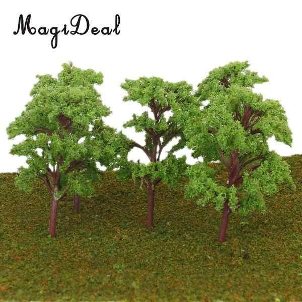 10Pcs Banyan Trees Train Model Tree Railroad Street Garden Building Scenery  Layout HO Scale 1/75-1/100