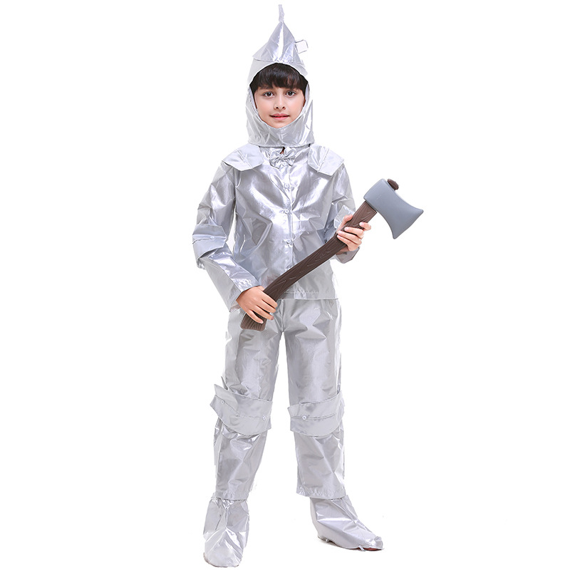 Boy The Wizard of OZ Tin Man Fancy Dress Halloween Child Book Week Fairy Tale Storybook Cosplay Costume