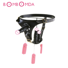 Adjustable Strap On Harness Dildo Vibrator Wearable Dildos Anal Plug Vagina Massage Underpant Belt Adult Sex Toys For Woman Gay