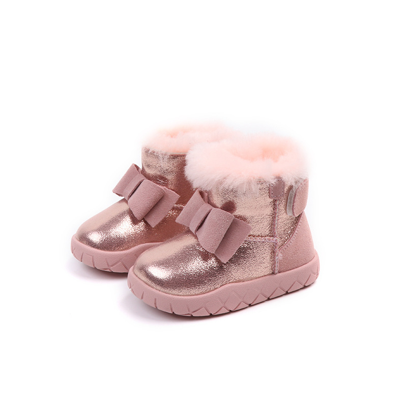 Winter Fashion Child Girls Snow Boots Shoes Warm Plush Soft Bottom Baby Girls Boots Kids Leather Winter Snow Boot For BabyWinter Fashion Child Girls Snow Boots Shoes Warm Plush Soft Bottom Baby Girls Boots Kids Leather Winter Snow Boot For Baby
