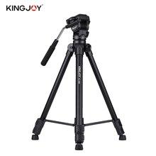 Kingjoy VT-1500 166cm/5.4ft Lightweight Camera Video Tripod w/ Panoramic Head for Canon Nikon Sony DSLR Camcorder Photography