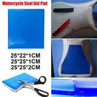 VODOOL Motorcycle Seat Gel Pad Shock Absorption Mat Motorbike Scooter Comfortable Soft Gel Cushion Motor Bike Modified Seat Pads