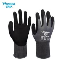 Wonder Grip Garden Safety Glove Nylon With Nitrile Sandy Coated Work Glove Abrasion proof Universal Working Gloves