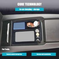 For Tesla Model X/S Car Wireless Charger Storage Box