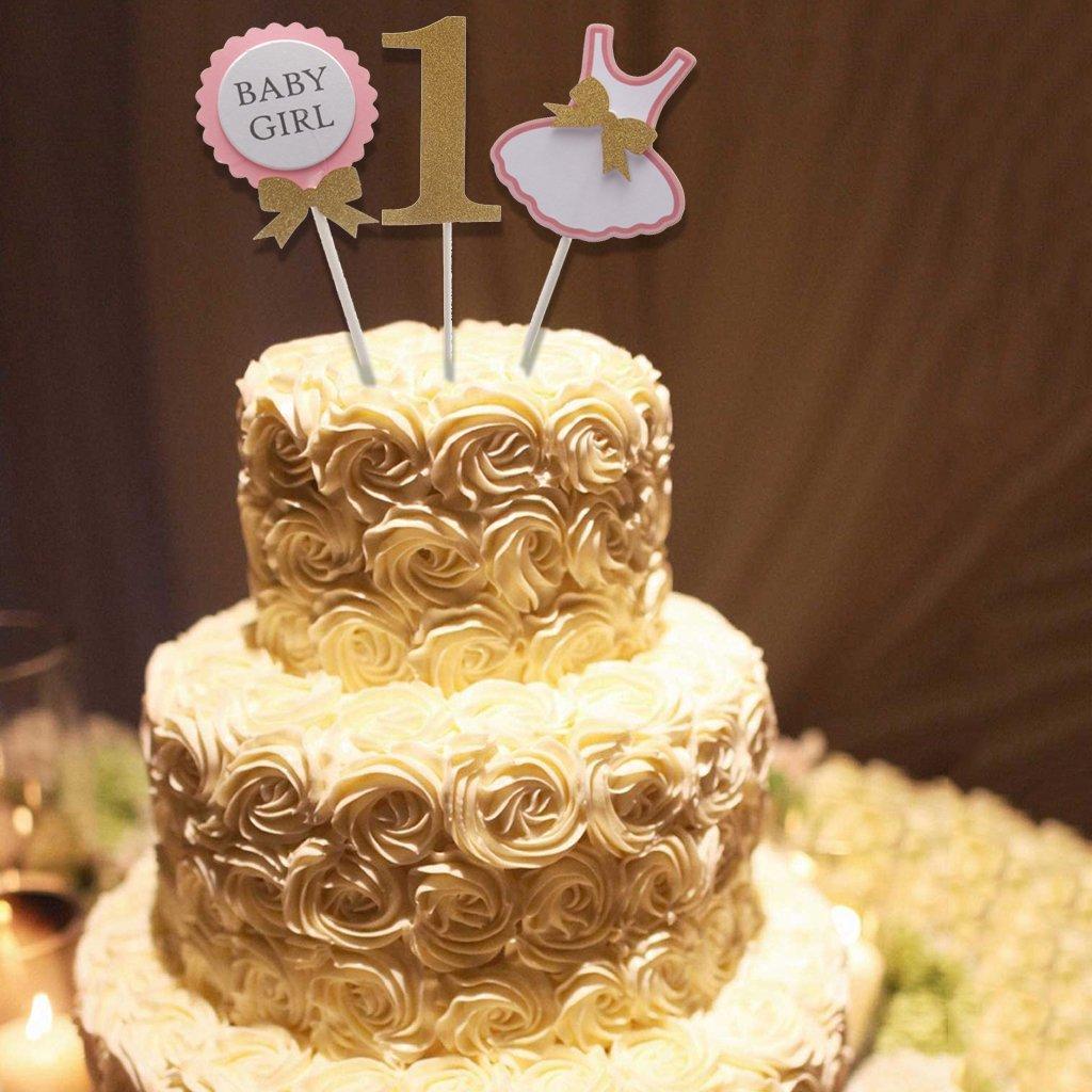 Astonishing Cute Baby Girl 1St Birthday Clothing Cake Topper Baby Showe Its A Funny Birthday Cards Online Necthendildamsfinfo