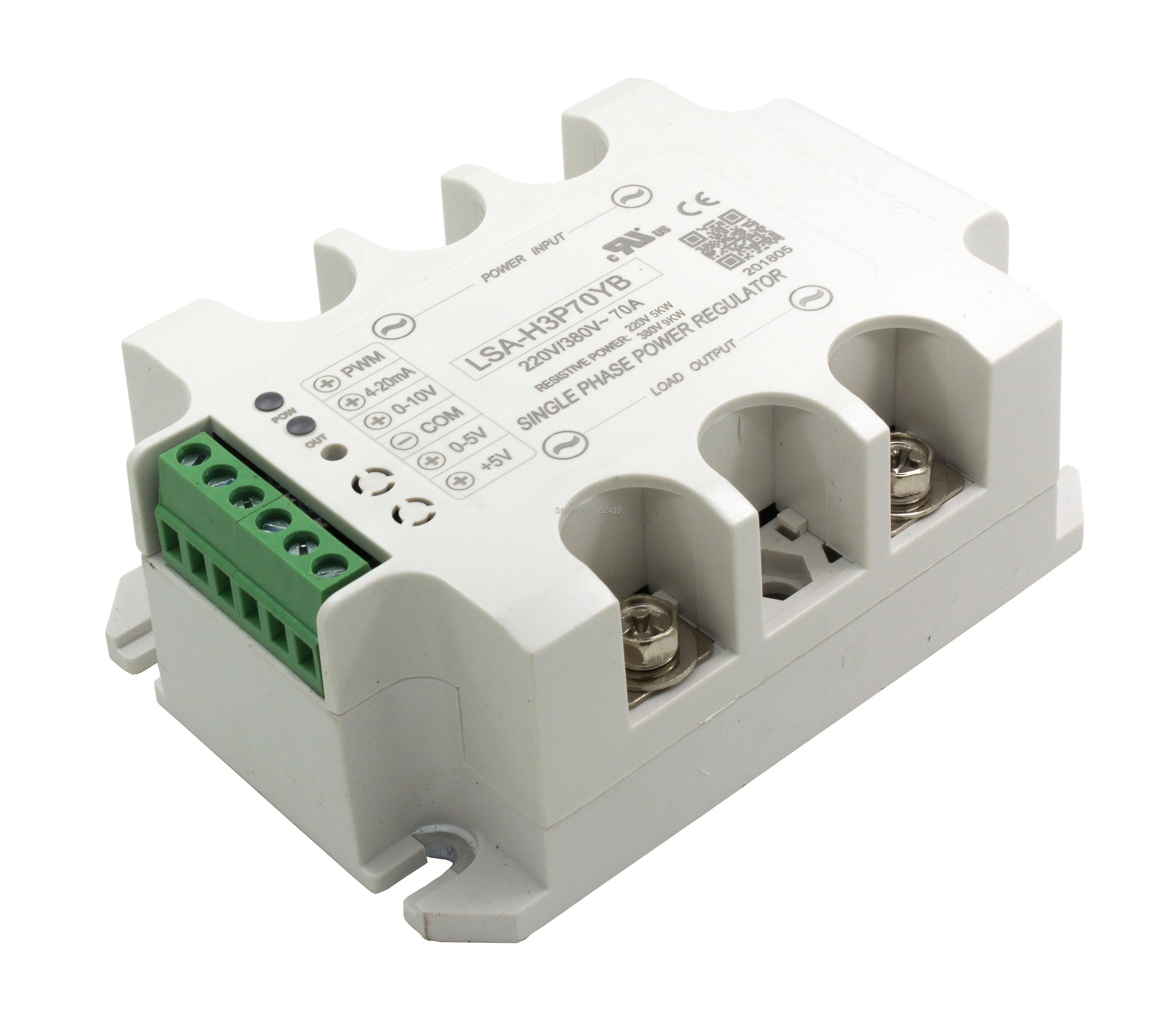 LSA-H3P70YB Single Phase AC 70A 220V/380V Solid State Voltage Regulator / Power Regulator Module