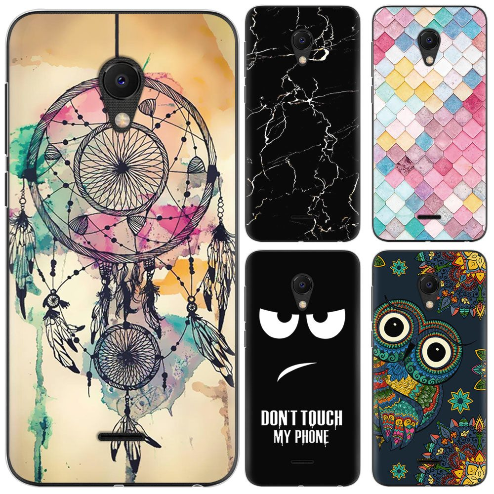 Colorful Patterns Soft Phone Case For Meizu C9 / M9C Fashion Design Art Painted TPU Silicone Cover